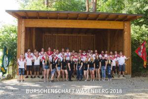 Gruppenfoto & Kirmeseröffnung der Burschenschaft Wasenberg – 20.07.2018