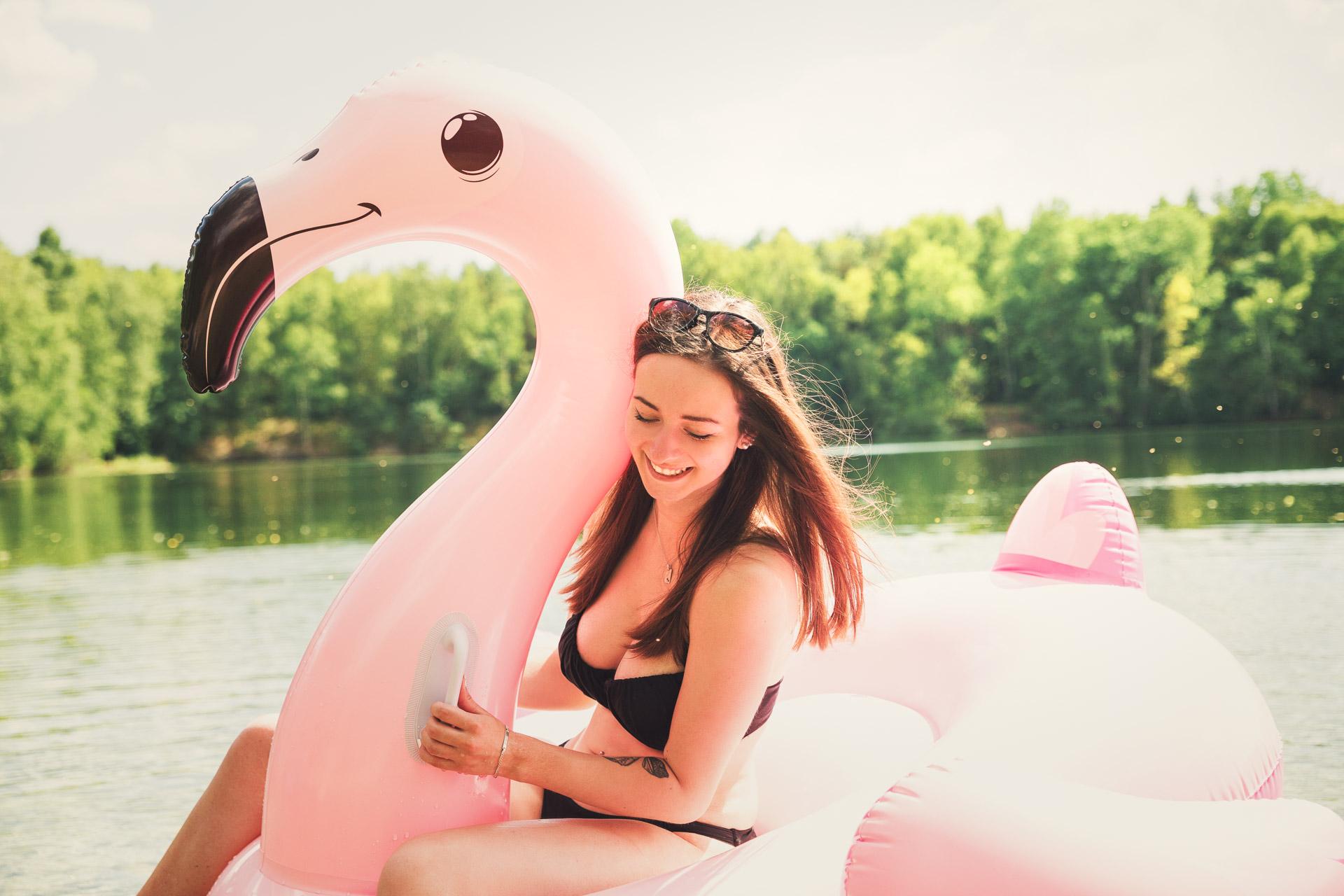 Flamingoshooting mit Gina