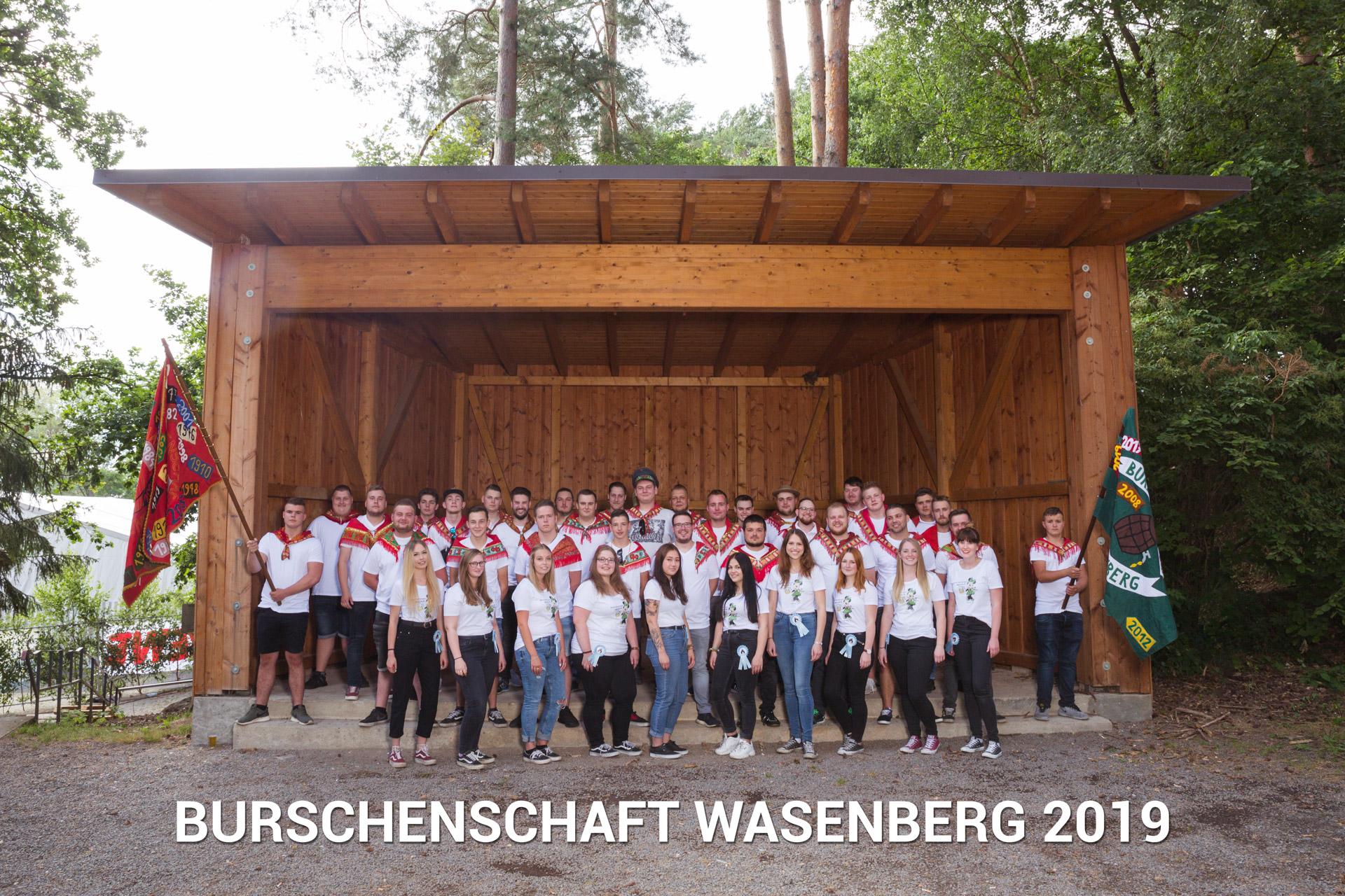 Gruppenfoto Burschenschaft Wasenberg – 19.07.2019